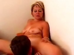 Mature pussy enjoys a wild fuck with a nasty young stud