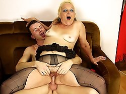 The mature slut is his mother in law and even though he should have stopped he couldn't