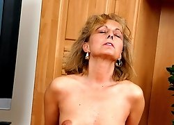 Horny stud pushes his cock deep in Helena's mouth and fucks it.