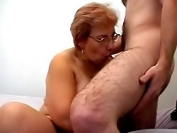 Mature cougar has an itch for hard cock so she fucks a hot young stud