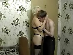 Horny youngster gets fucked hard by a pro mature slut