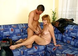 Blonde slut Eva is very insatiable and she fucks wildly.