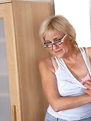 Granny happens to be crazy about porn and when he finds out they end up fucking hard