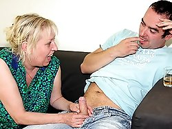He nails his mother in law while lustily groping her big beautiful titties from behind